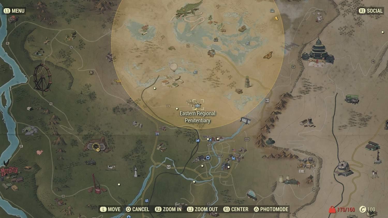 Расположение тюрьмы на карте