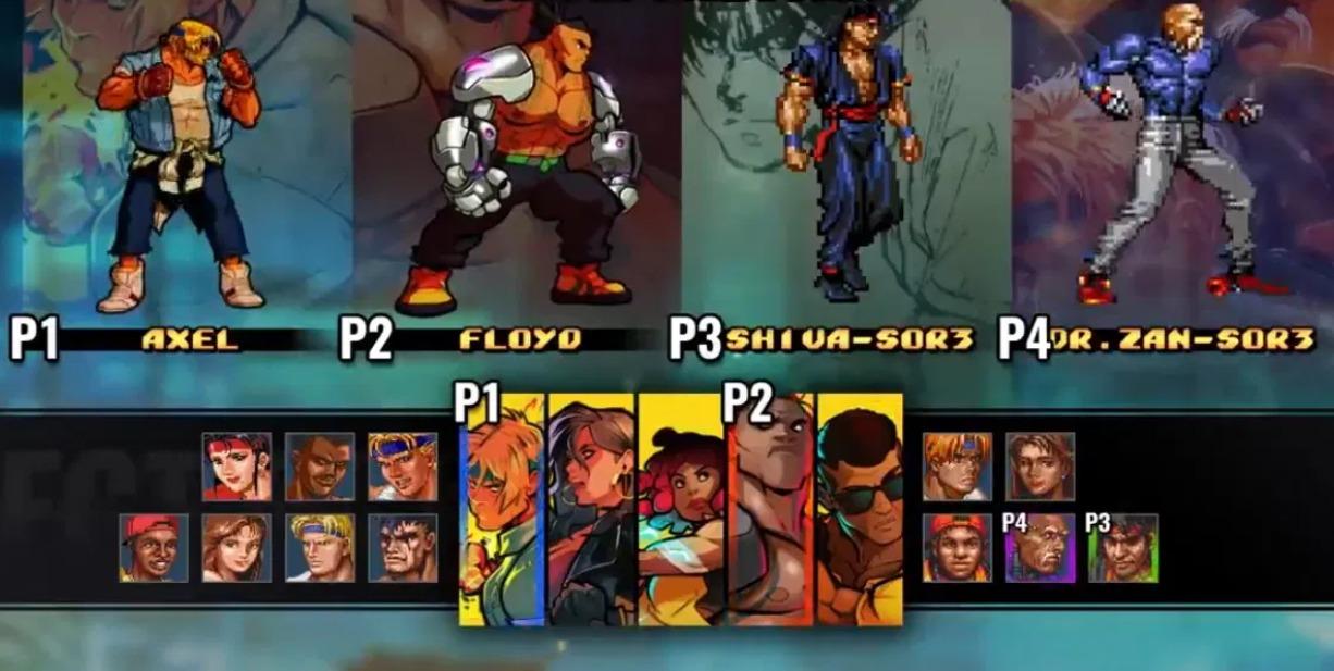 все персонажи в Streets of Rage 4